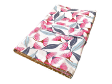 Load image into Gallery viewer, Traveller Nappy Wallet for cloth Nappies- eucalyptus blossom - Percy and Paige