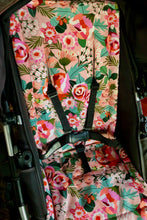 Load image into Gallery viewer, Custom liner made for your model of pram- Digital roses - Percy and Paige tiny traveller footmuff pram blanket best footmuffs universal footmuff australian made footmuffs warm and practical
