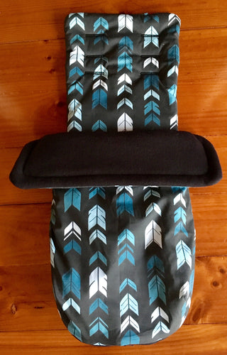 Custom set- City Tour - Percy and Paige tiny traveller footmuff pram blanket best footmuffs universal footmuff australian made footmuffs warm and practical