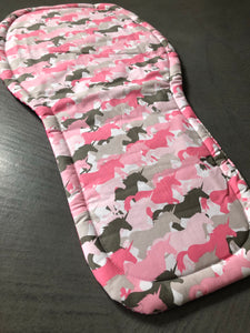Universal liner- pink unicorns - Percy and Paige tiny traveller footmuff pram blanket best footmuffs universal footmuff australian made footmuffs warm and practical