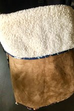 Load image into Gallery viewer, Brown faux Suede - Percy and Paige tiny traveller footmuff pram blanket best footmuffs universal footmuff australian made footmuffs warm and practical