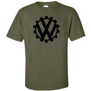 VW Germany Circa 1939 Logo T-Shirt - Military Green