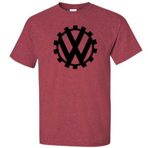 VW Germany Circa 1939 Logo T-Shirt - Red