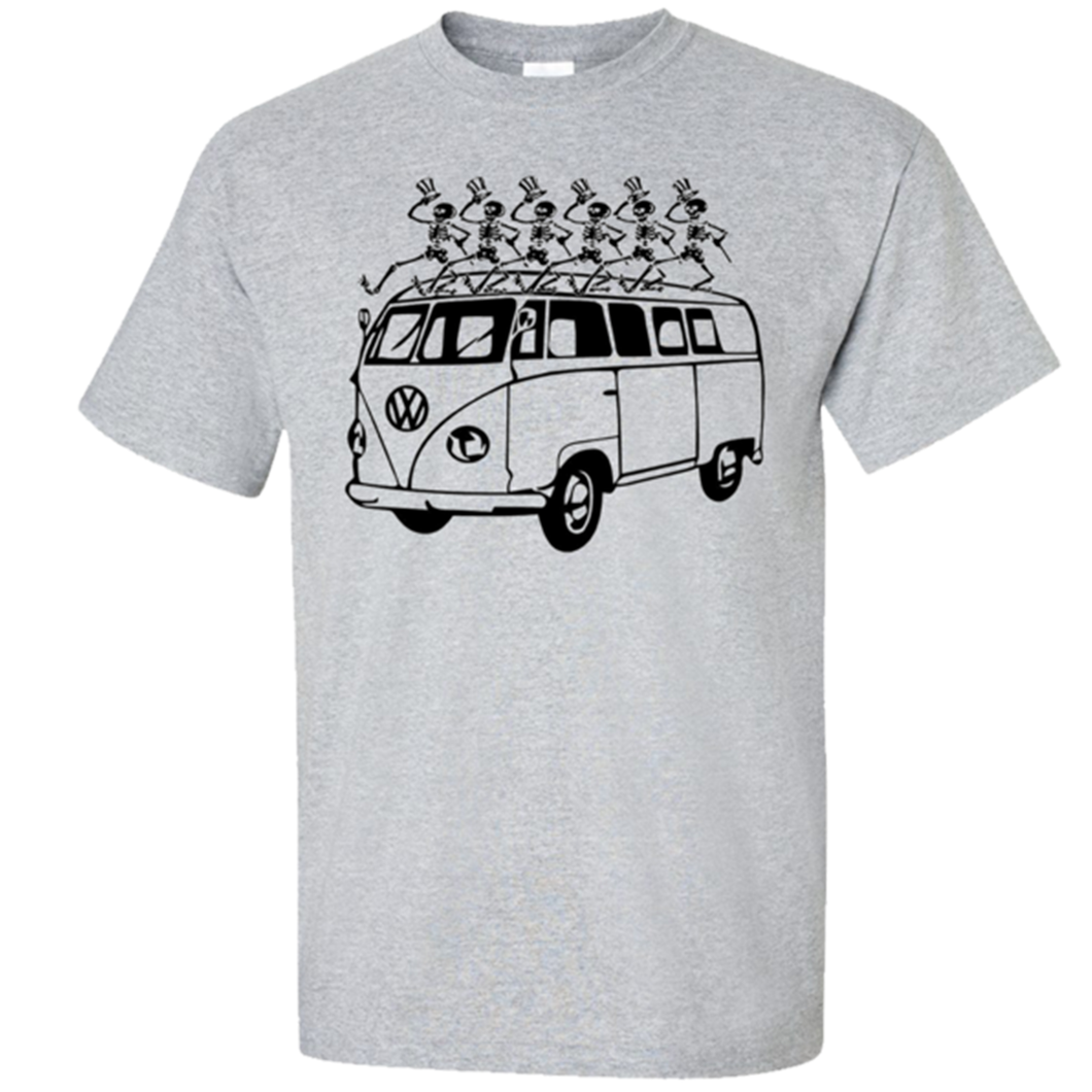 VW Dancing Skeletons T-Shirt - Classic Grey