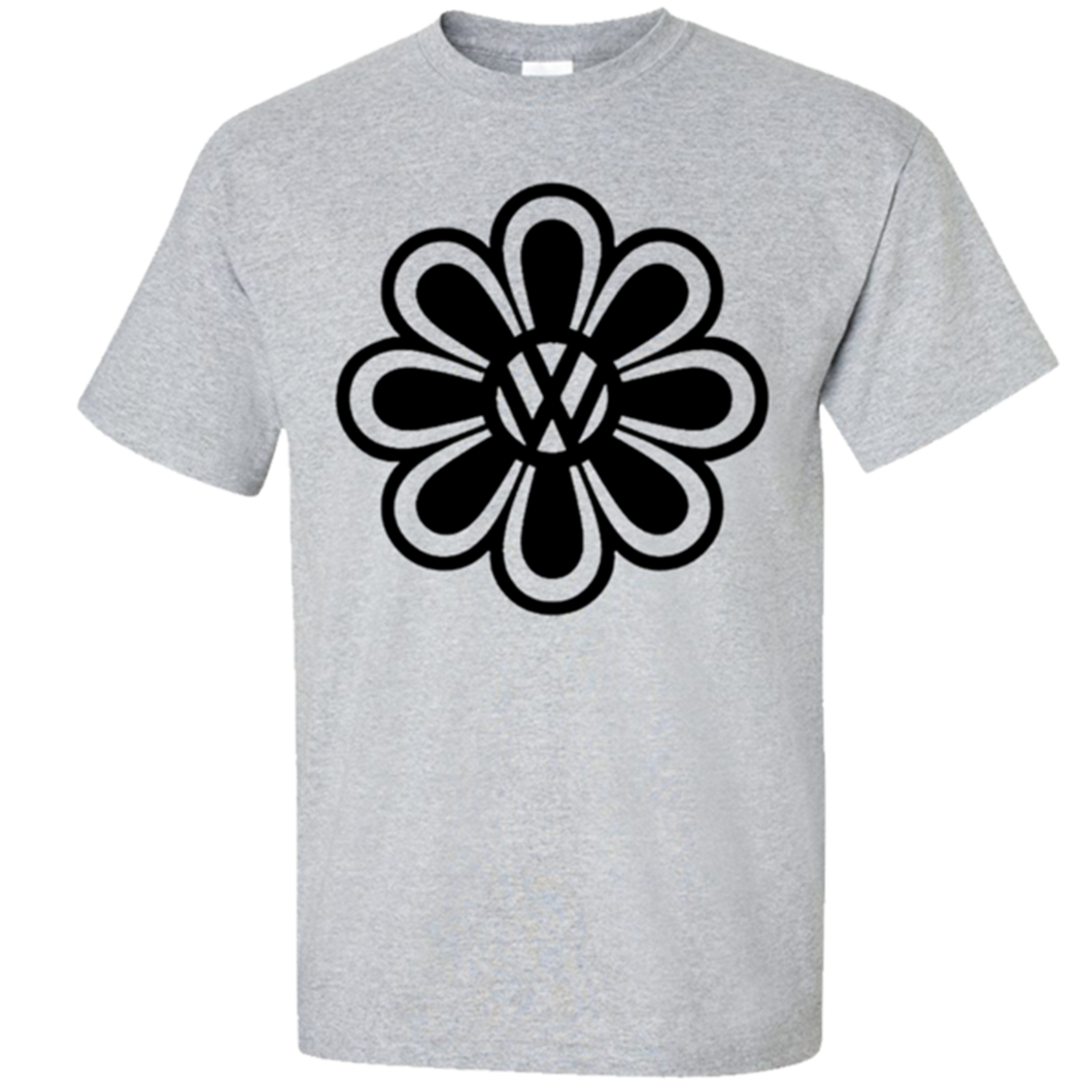 VW Flower Power T-Shirt - Classic Grey