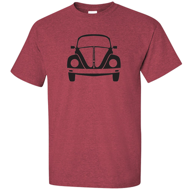 VW Bug Front T-Shirt - Red
