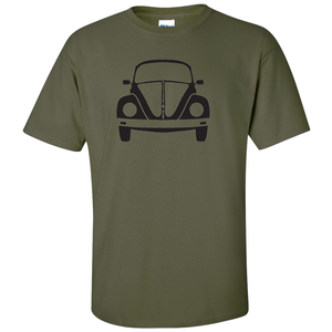 VW Bug Front T-Shirt - Military Green