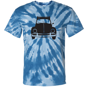 VW Bug Rack T-Shirt - Tie Dyed Blue
