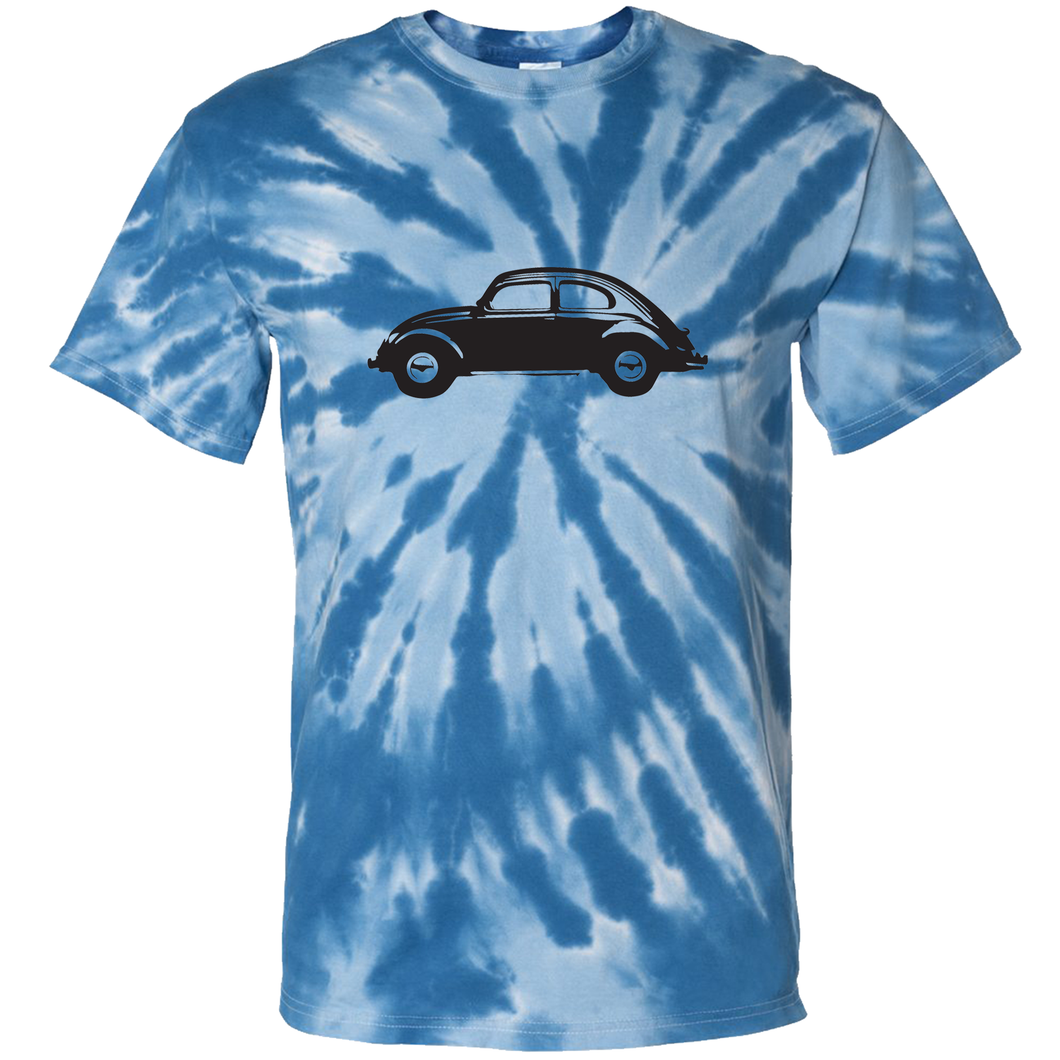 VW Beetle T-Shirt - Tie Dyed Blue