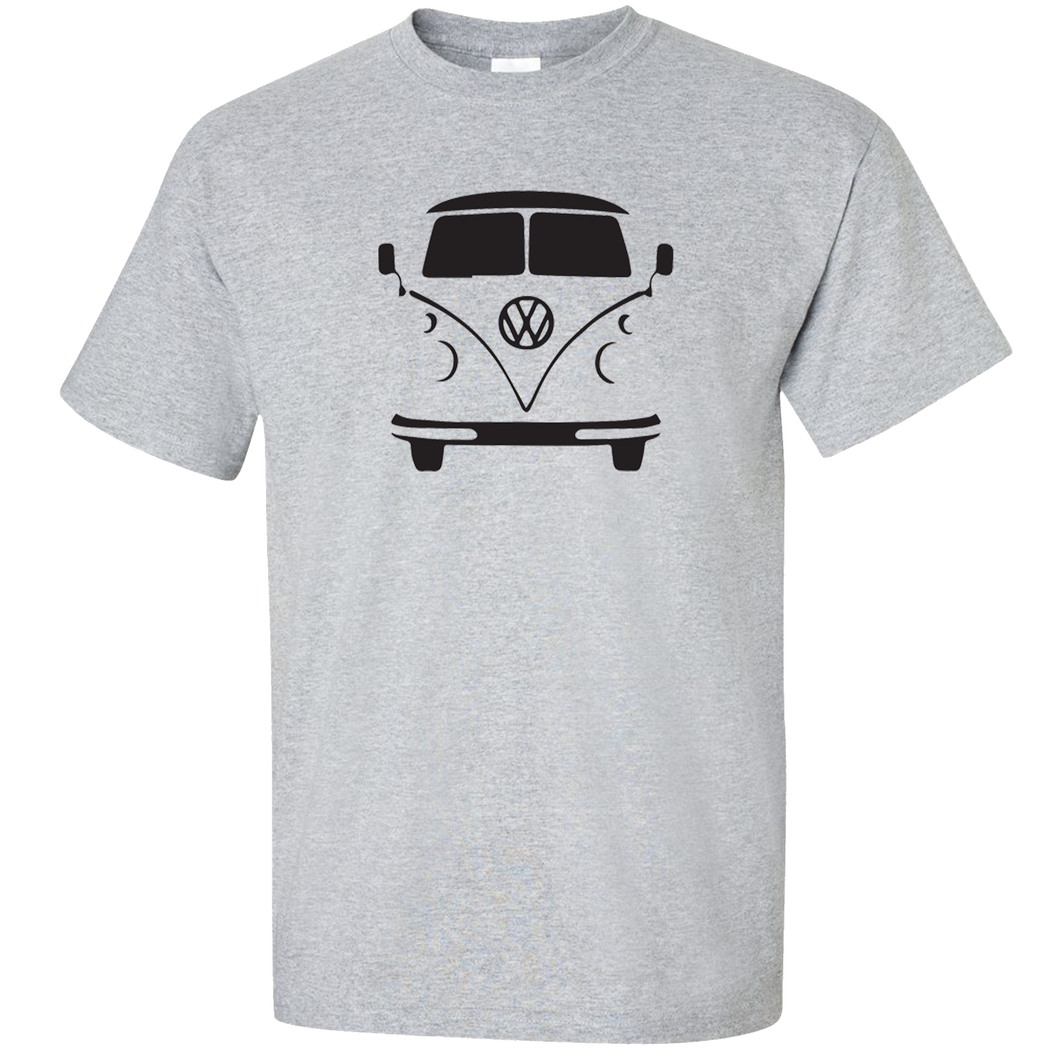 VW Bus Front T-Shirt - Classic Grey