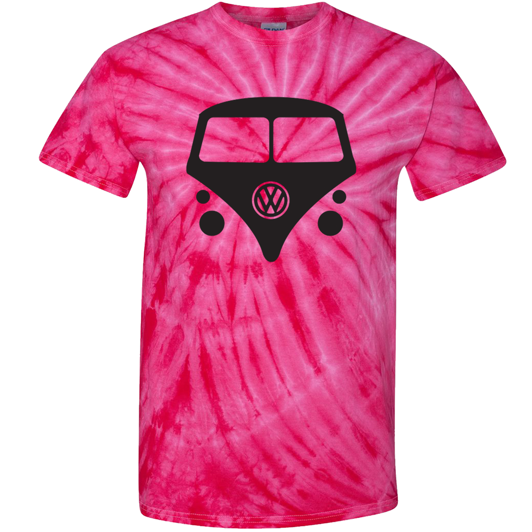 VW Bus T-Shirt - Tie Dyed Pink