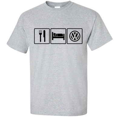 VW Eat Sleep T-Shirt - Classic Grey
