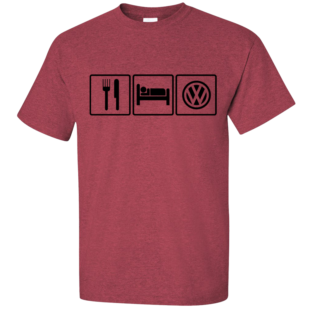 VW Eat Sleep T-Shirt - Red