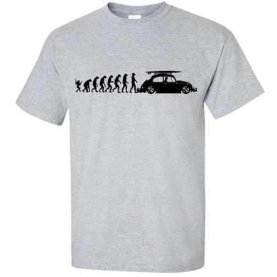 VW Evolution to Beetle T-Shirt - Classic Grey