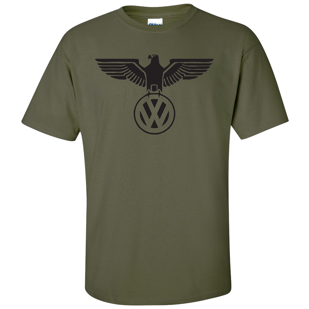 VW German Eagle T-Shirt - Military Green