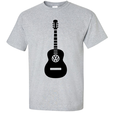 VW Guitar T-Shirt - Classic Grey