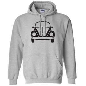 VW Bug Front Hoodie - Classic Grey