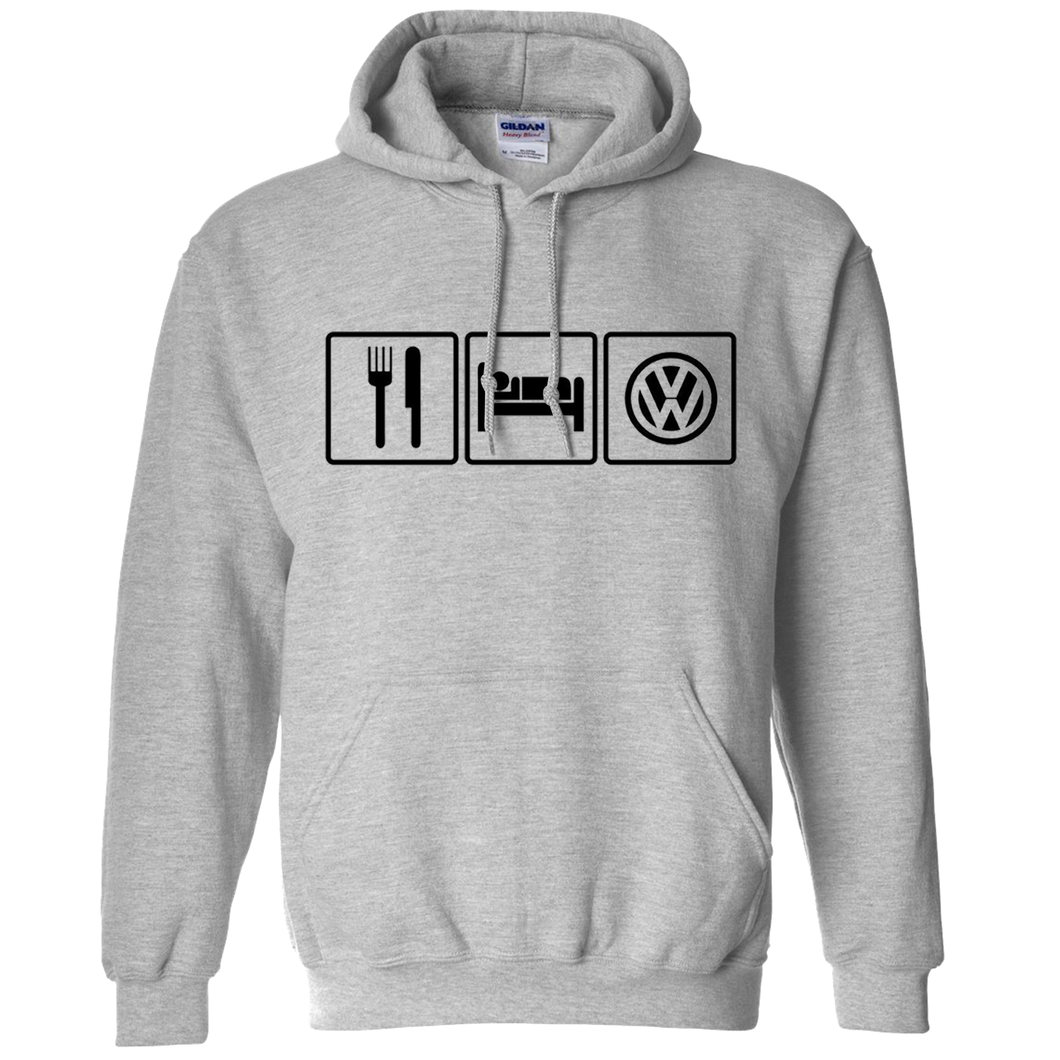 VW Eat Sleep Hoodie - Classic Grey