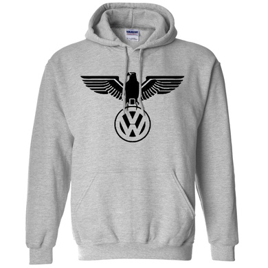 VW German Eagle Hoodie - Classic Grey