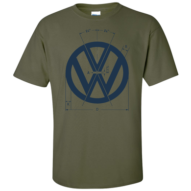 VW Logo Specs T-Shirt - Military Green