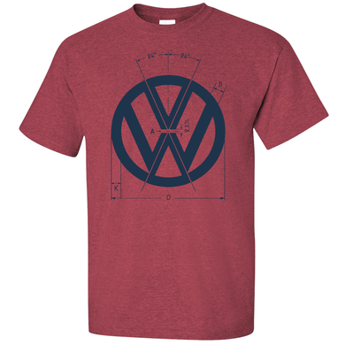 VW Logo Specs T-Shirt - Red
