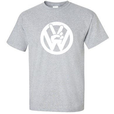 VW Peace T-Shirt - Classic Grey