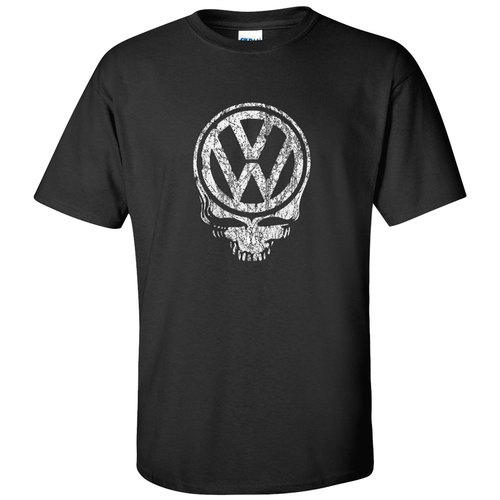VW Distressed Deadhead T-Shirt - Black