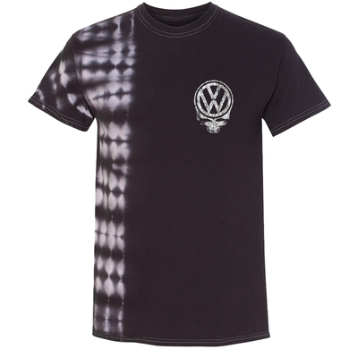 VW Tie Dyed Deadhead T-Shirt - Black
