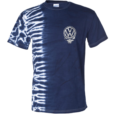 VW Tie Dyed Deadhead T-Shirt - Blue