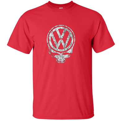 VW Distressed Deadhead T-Shirt - Red