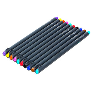 Fineliner Color Pens, Set of 10
