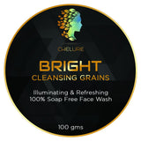 Chelure BRIGHT Cleansing Grains 100% Soap Free Daily Facial Wash Illuminating & Refreshing