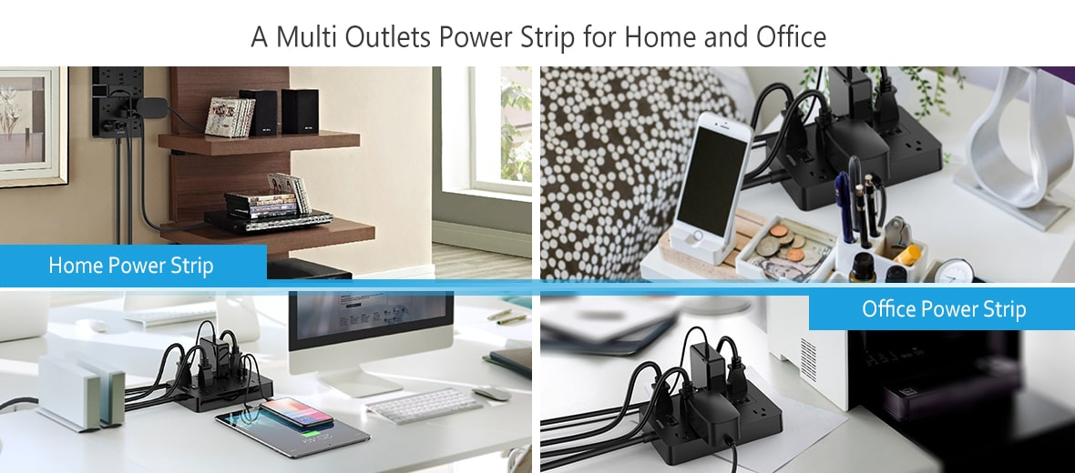10 outlets power strip