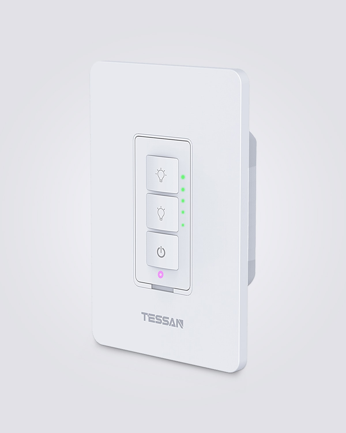 Smart Dimmer Switch for Dimmable LED Lights, Compatible with Alexa and Google Assistant, White