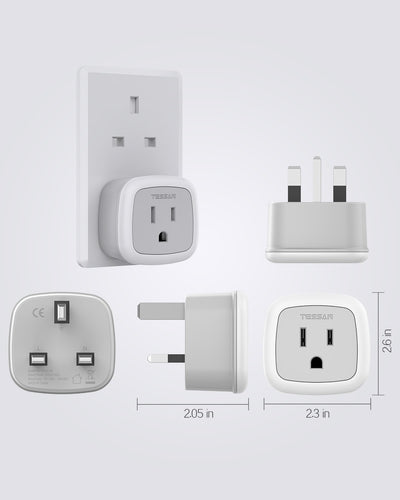 UK Hong Kong Travel Adapter with 1 Outlet (Type G)