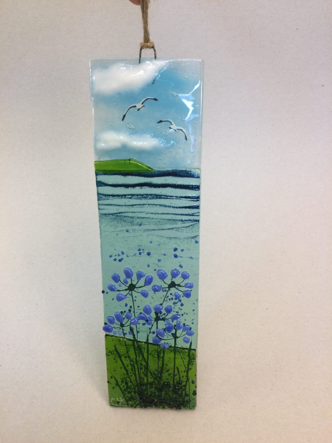 Large Hanger - Sea scene with agapanthus