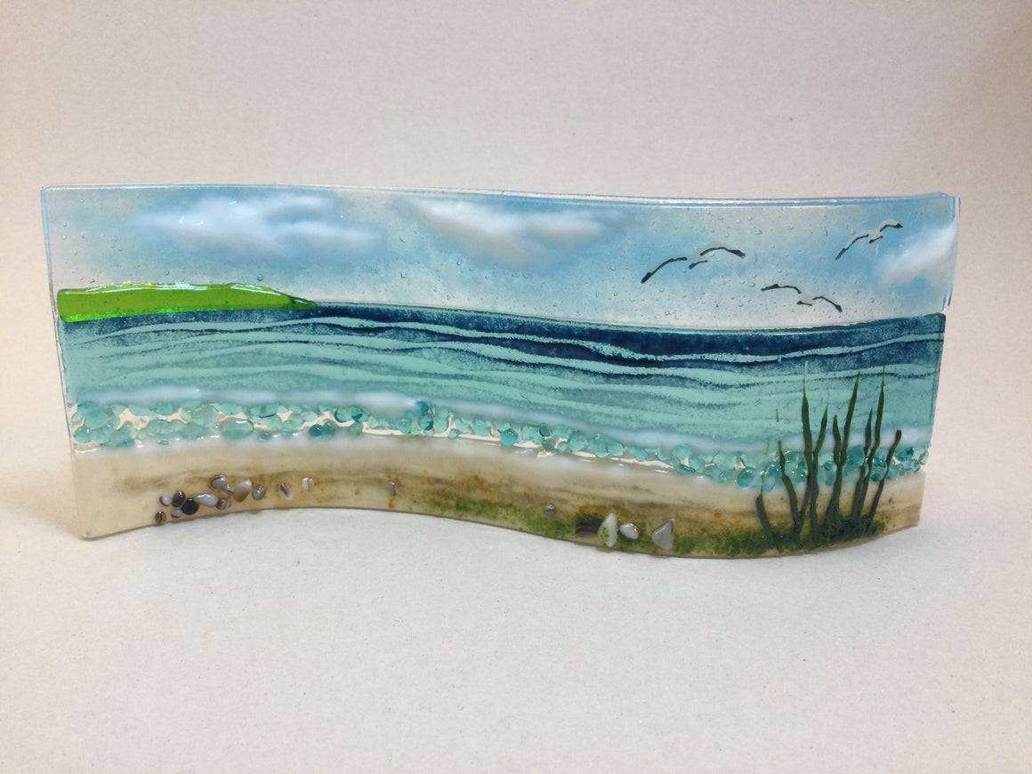 Large Freestanding Wave - Sea Scene with grass