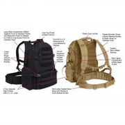 Training/Hiking Multi-Chamber MOLLE equipped hydration Pack