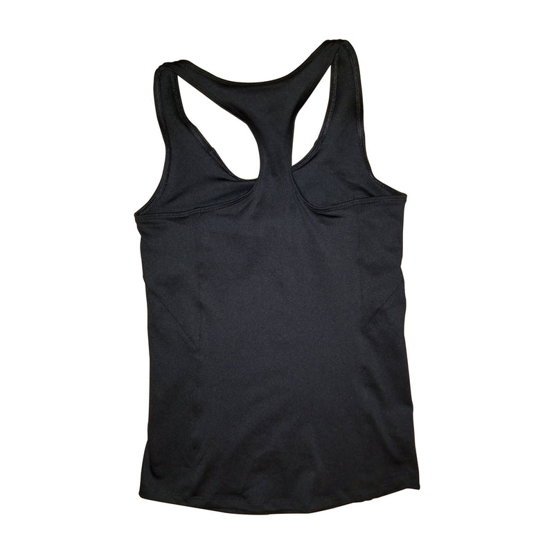 Gen-X Muscle Embroidered Stretch Racerback Tank with Built-in Shelf Bra