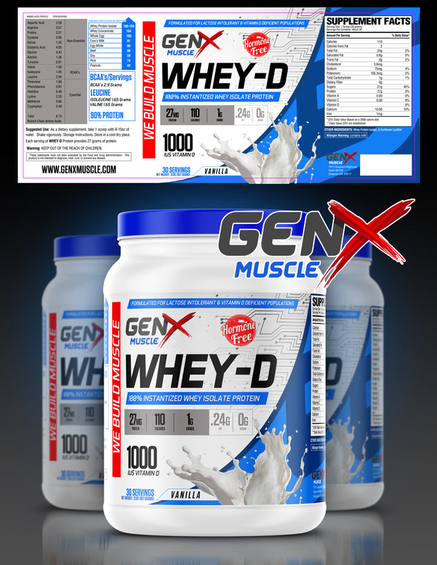 100% Whey Isolate with 1,000 IUs of Vitamin D3-Free Sample
