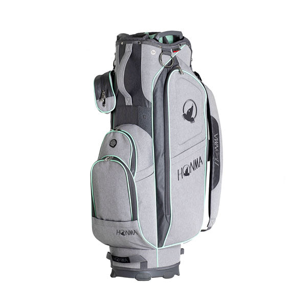 Ladies Cart Bag - Light Gray/Mint