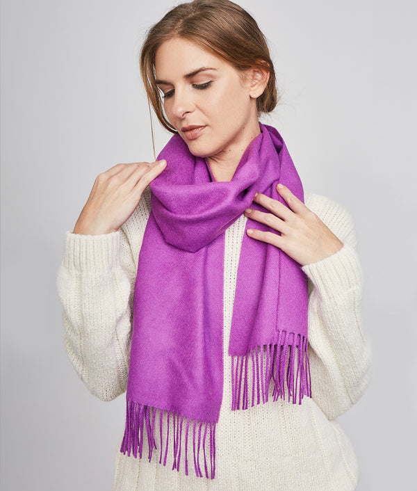 Long brushed scarf RJ14614