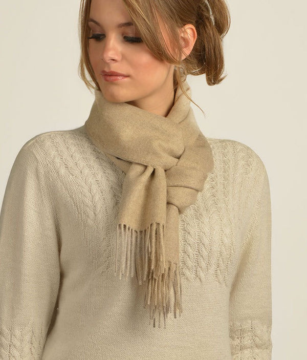 LONG BRUSHED SCARF OATMEAL 282