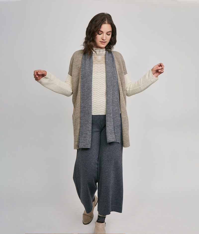Abba modified long cardigan C002