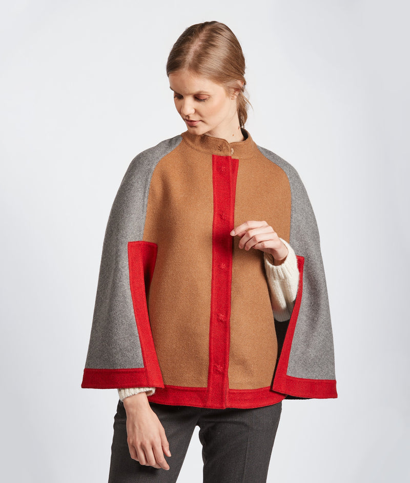 Color Blocked Reversible Cape J15172 C003