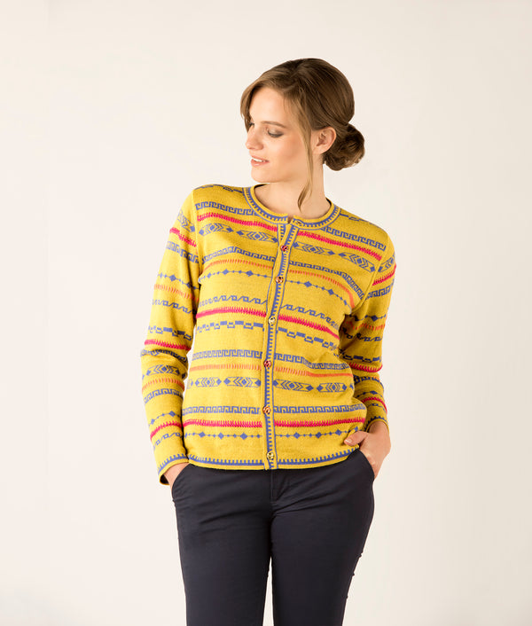 Geo plus embroidery cardigan C003