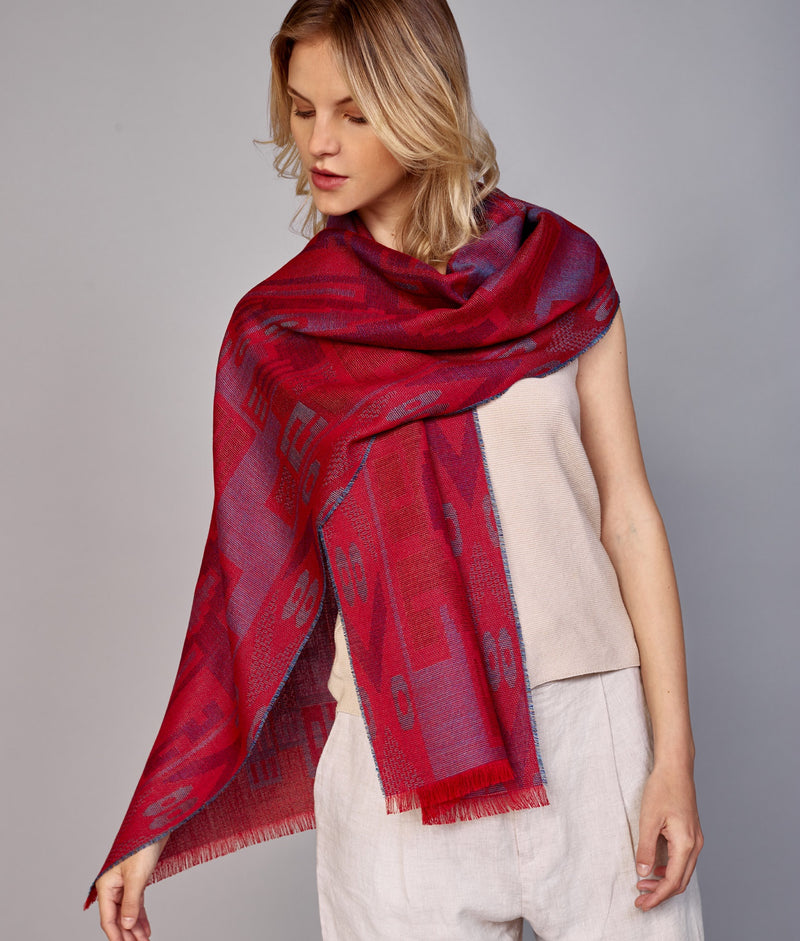 Nazca Dignified Forms Scarf C002