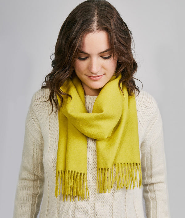 Long brushed scarf AM14610