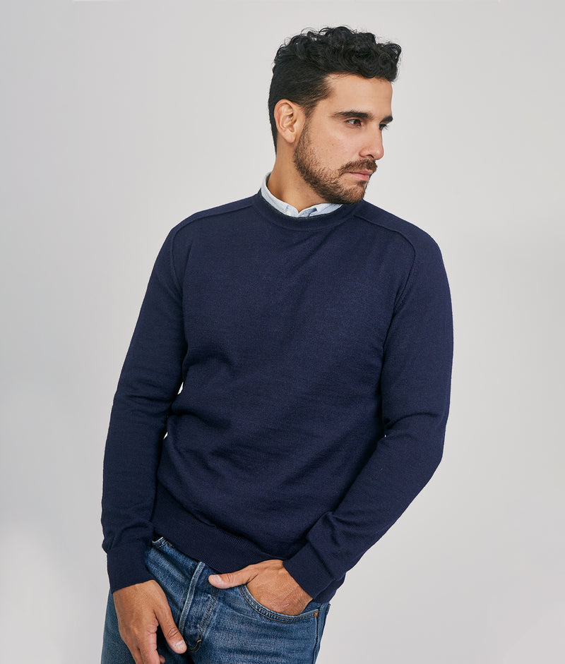 Classic Jersey Saddle Shoulder Crew C001