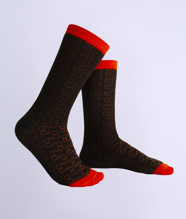 The loose eyelet ladies socks C004